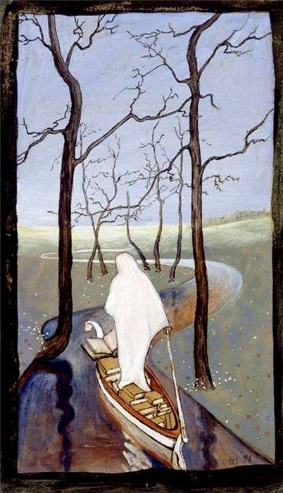 On the Stream of Life, painting by Hugo Simberg