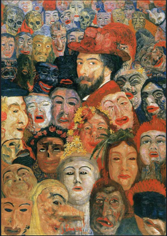 Self-Portrait withs Masks, James Ensor