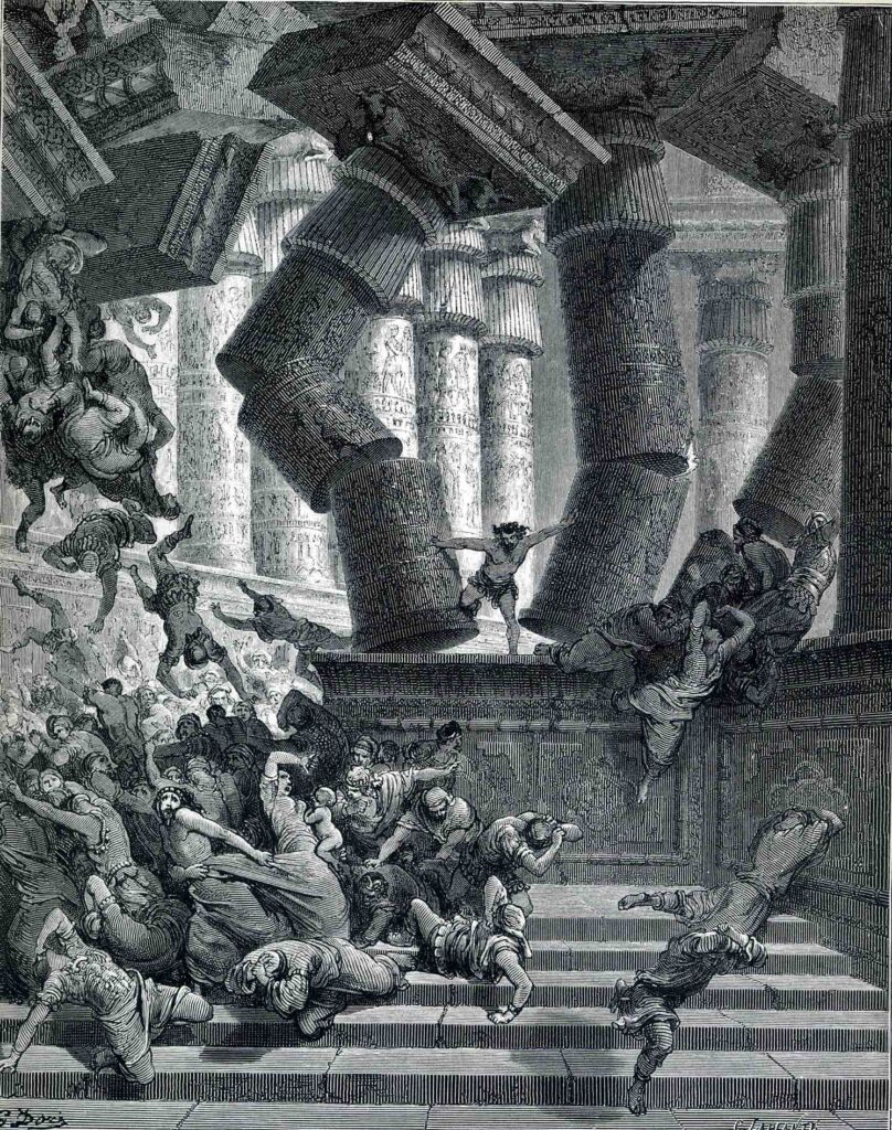 The Death of Samson, Gustave Dore