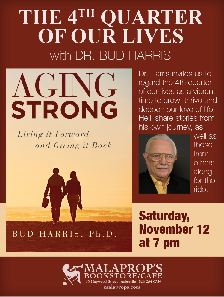 Jungian analyst and author Dr. Bud Harris presents Aging Strong at Malaprop's Bookstore in Asheville
