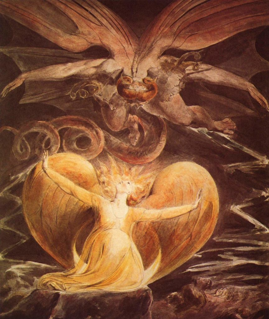 The Great Red Dragon and the Woman clothed with the sun, William Blake