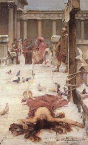 St. Eulalia, painting by John William Waterhouse