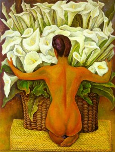 Nude with Calla Lillies, Diego Rivera