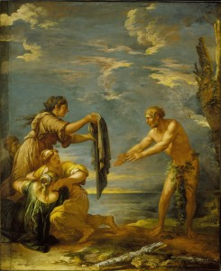 Odysseus and Nausicaa, Salvatore Rosa