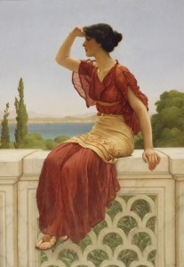 The Signal, painting by John William Godward