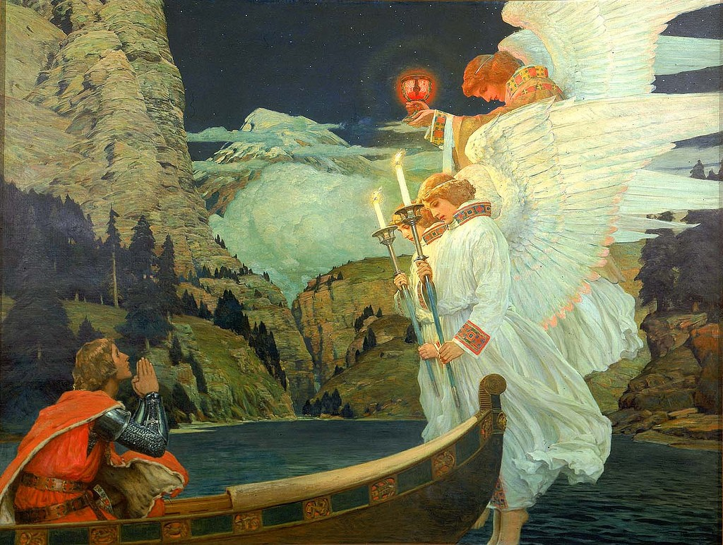 The Knight of the Holy Grail, Frederick Judd Waugh